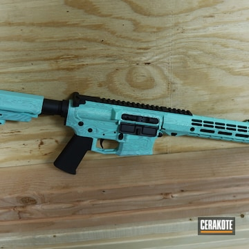 Aero Precision Ar Build Cerakoted Using Graphite Black And Robin's Egg Blue