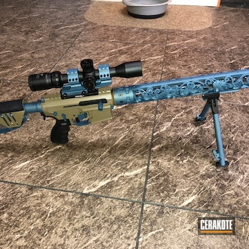 Custom Ar Build Cerakoted Using Blue Titanium And Magpul® Flat Dark Earth