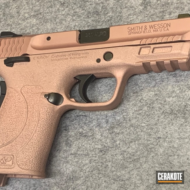 Cerakoted: S.H.O.T,M&P,Smith & Wesson,ROSE GOLD H-327,Smith & Wesson M&P Shield