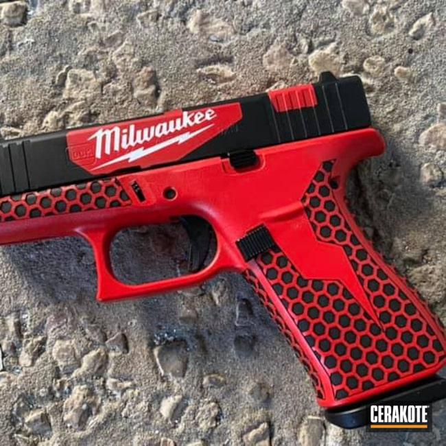 Cerakoted: Bright White H-140,S.H.O.T,Glock 43X,g43x,Milwaukee,USMC Red H-167,Tool,Pistol