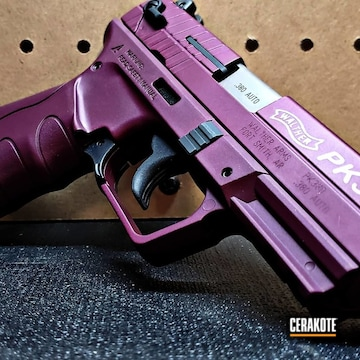 Walther Pk380 Cerakoted Using Satin Aluminum And Black Cherry