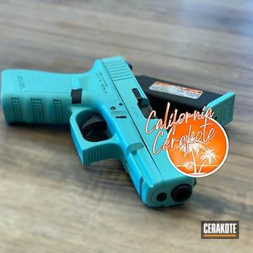 Glock 19 Cerakoted Using Robin's Egg Blue