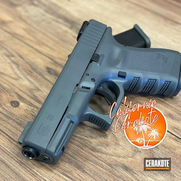 Glock 23 Cerakoted Using Sniper Grey