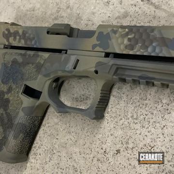 Custom Camo Glock 19 Cerakoted Using Patriot Brown, Stone Grey And O.d. Green