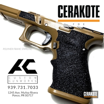 Glock 17 Frame Cerakoted Using Fde