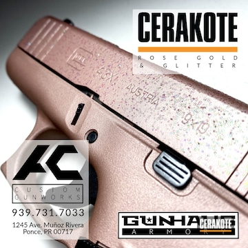 Glock 43x Cerakoted Using Rose Gold