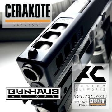 Glock 23 Cerakoted Using Blackout