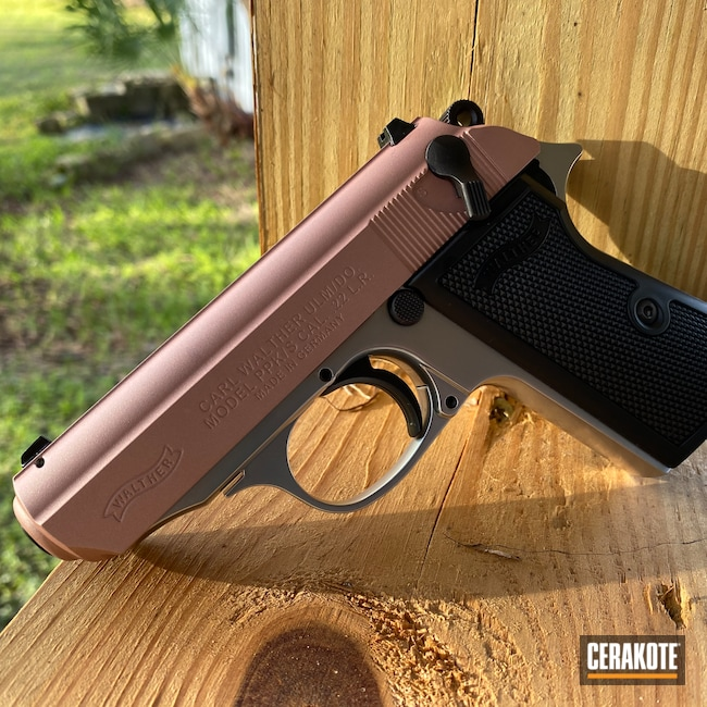 Cerakoted: S.H.O.T,Walther,ROSE GOLD H-327,Walther PPS,.22