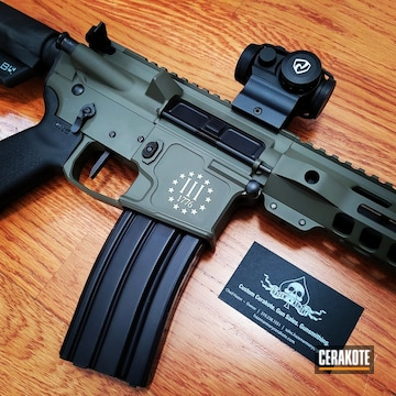 Ar Build Cerakoted Using Benelli® Sand, O.d. Green And Graphite Black