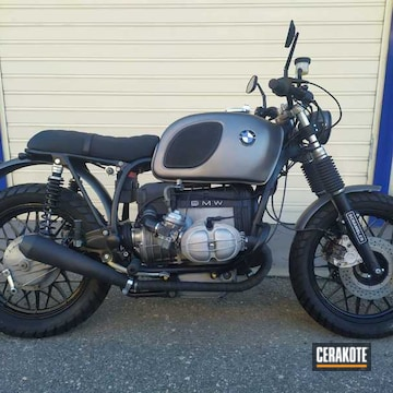 Bmw Motorcycle Cerakoted Using Cerakote Glacier Black