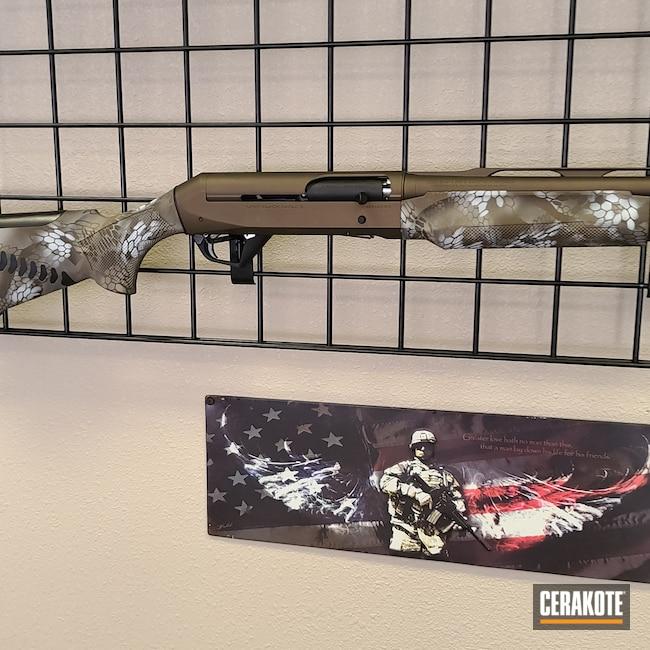 Cerakoted: Bright White H-140,S.H.O.T,MAGPUL® FLAT DARK EARTH H-267,Shotgun,Patriot Brown C-226,Desert Sand H-199,Burnt Bronze H-148,Benelli,12 Gauge