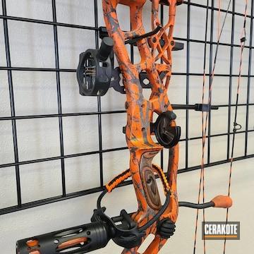 Bow Cerakoted Using Hunter Orange, Patriot Brown And Desert Sand