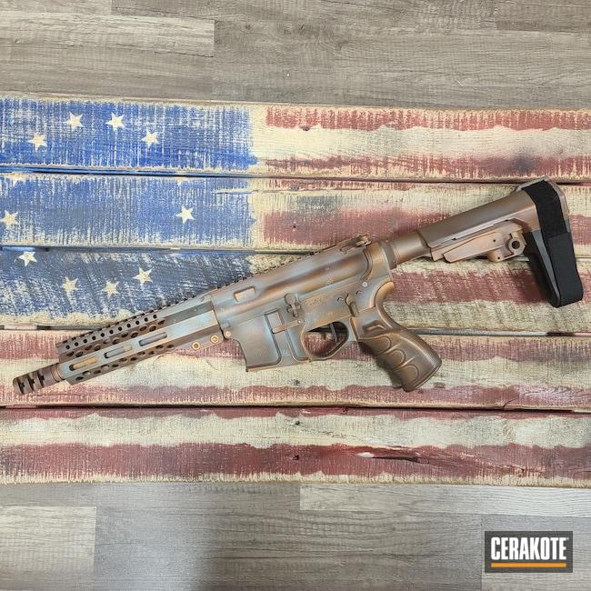 Cerakoted: S.H.O.T,COPPER H-347,AR Pistol,Robin's Egg Blue H-175,Copper Patina,Patriot Brown H-226,.223 Wylde,Patina