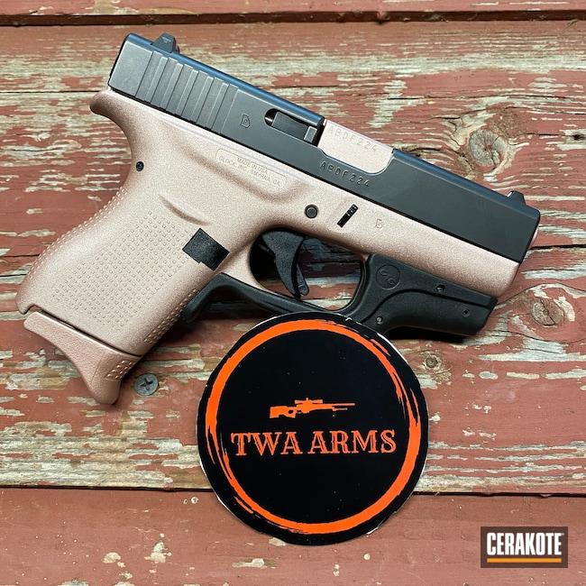 Cerakoted: S.H.O.T,.380,Pistol,Glock,ROSE GOLD H-327