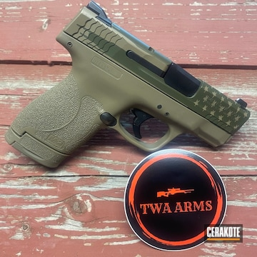 Smith & Wesson M&p Cerakoted Using Magpul® O.d. Green And Magpul® Flat Dark Earth