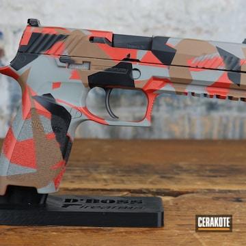 Sig Sauer P320 Cerakoted Using Graphite Black, Smith & Wesson® Grey And Blood Orange
