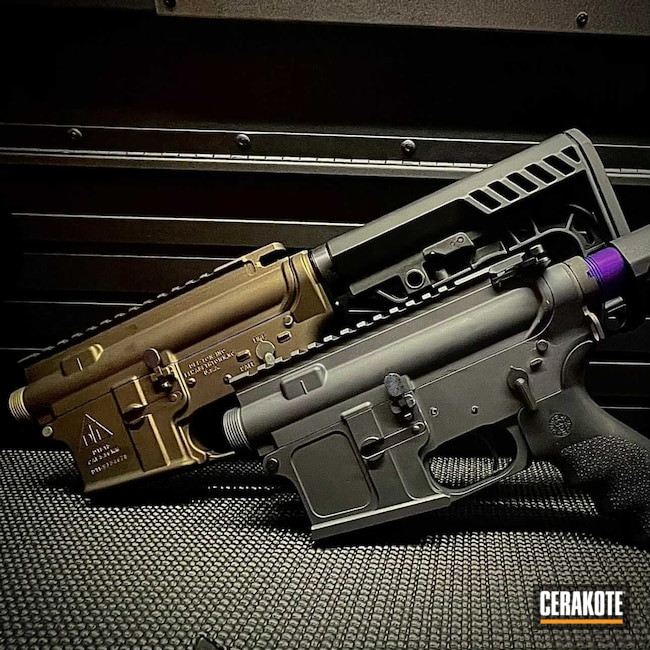 Cerakoted: S.H.O.T,Sniper Grey H-234,Upper,Midnight Bronze H-294,AR-15,AR15 Lower
