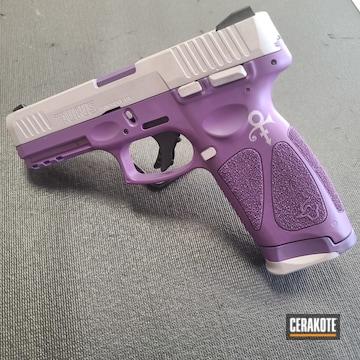 Taurus Cerakoted Using Satin Aluminum And Bright Purple