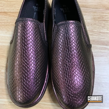 Shoes Cerakoted Using Graphite Black