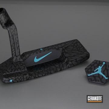 Nike Themed Putter Cerakoted Using Graphite Black