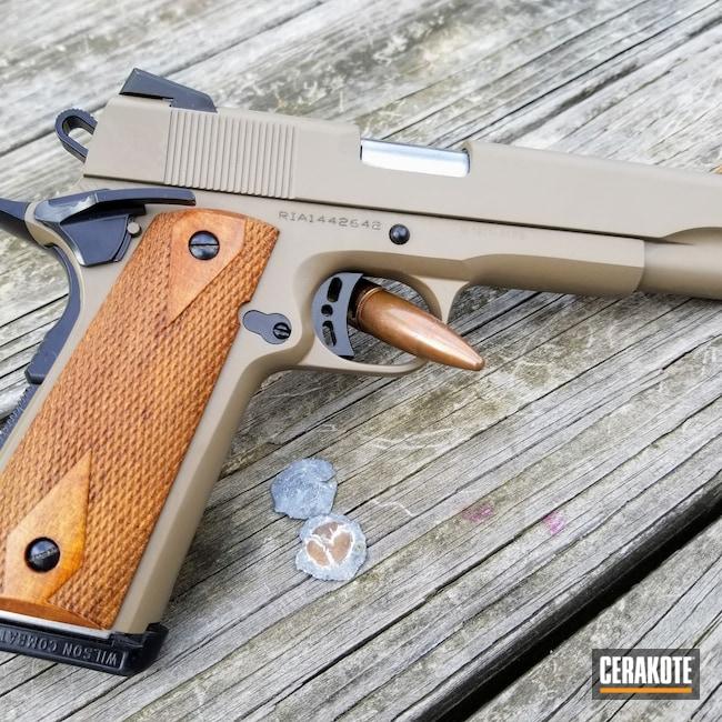 Cerakoted: S.H.O.T,9mm,1911A1,BLACKOUT E-100,FDE E-200,Pistol,1911,Rock Island