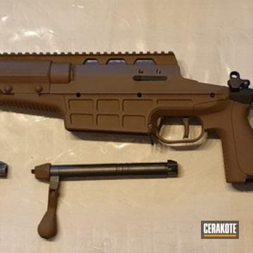 Bolt Action Rifle Cerakoted Using Fs Field Drab