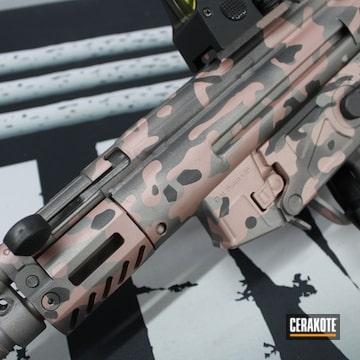 Custom Camo Mp5 Clone Cerakoted Using Rose Gold, Titanium And Tungsten