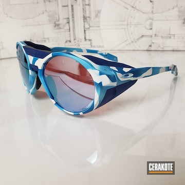 Oakley's Cerakoted Using Blue Raspberry, Bright White And Nra Blue