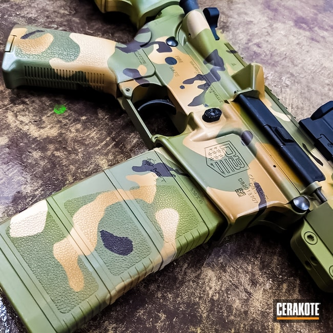 Cerakoted: S.H.O.T,DB15,MultiCam,Graphite Black H-146,Diamondback,TROY® COYOTE TAN H-268,.223,Mil Spec Green H-264,Chocolate Brown H-258