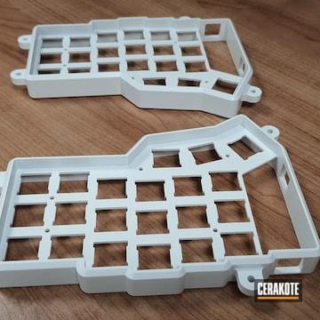Mechanical Keyboard Frame Cerakoted Using Snow White