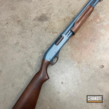 Remington 870 Cerakoted Using Blue Titanium