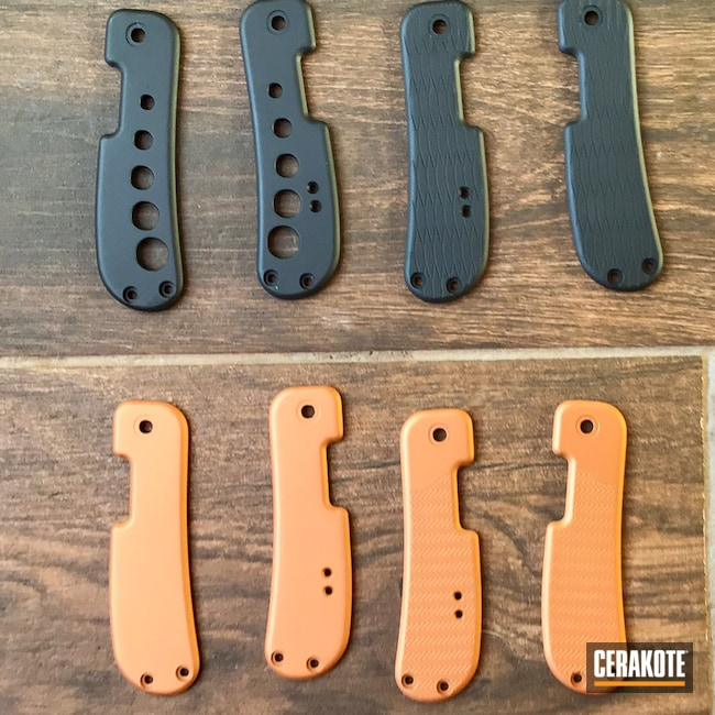 Cerakoted: COPPER H-347,Graphite Black H-146,Scales,Knife Handles,Miscellaneous