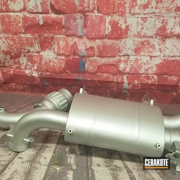 Exhaust System Cerakoted Using Cerakote Glacier Silver
