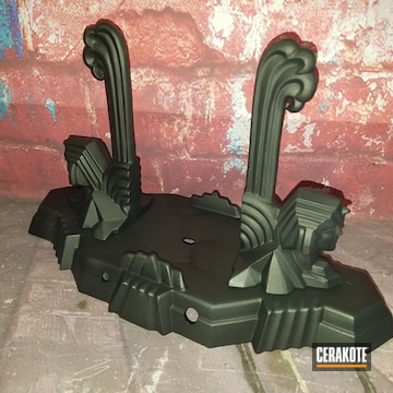 Table Lamp Cerakoted Using Burnt Bronze And Black Velvet