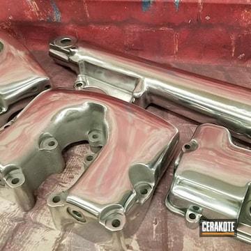 Polished Aluminum Motorcycle Parts Cerakoted Using Cerakote Clear - Aluminum