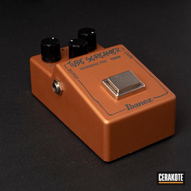 Cerakoted: Foot Pedal,COPPER H-347,Guitar Foot Pedal,Electronics,PLATINUM GREY H-337,Music