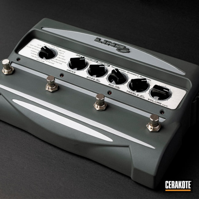 Line 6 Guitar Foot Pedal Cerakoted Using Platinum Grey And Frost