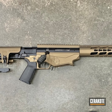 Ruger Precision Bolt Action Rifle Cerakoted Using Graphite Black And Burnt Bronze