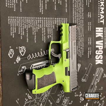 Hlk Vp9 Cerakoted Using Zombie Green