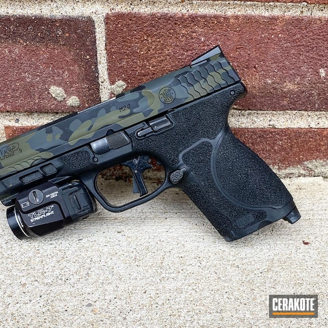 Cerakoted: S.H.O.T,M&P,M6IC,Pistol,MultiCam Black,Matching Set,LWRC,5.56,MultiCam,Graphite Black H-146,Smith & Wesson,MULTICAM® DARK GREEN H-341,AR-15