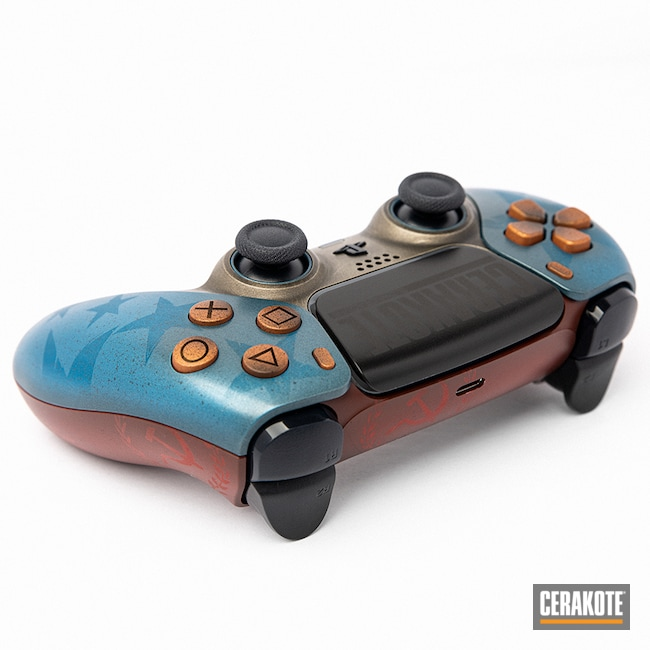 Cerakoted: Graphite Black C-102,playstation,Technology,Controls,Crimson H-221,Electronics,Sniper Grey H-234,RUBY RED H-306,MCMILLAN® TAN H-203,BARRETT® BROWN H-269,Patriot Brown H-226,BATTLESHIP GREY H-213,Gaming,Call of Duty,Sky Blue H-169,POLAR BLUE H-326