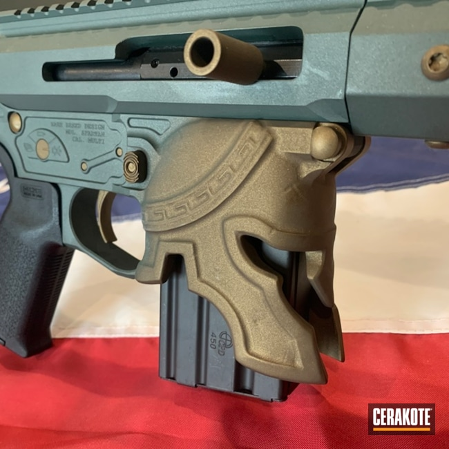 Spike's Tactical Ar Build Cerakoted Using Charcoal Green And Burnt Bronze