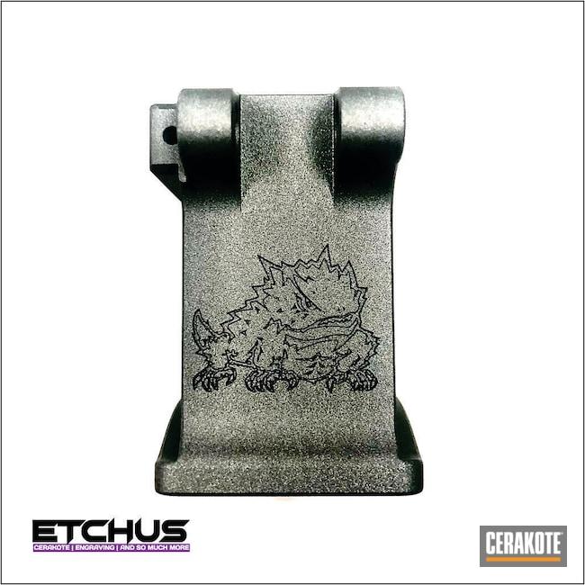 Cerakoted: S.H.O.T,Laser Engraving,TCU,Colorado School of Mines,Tungsten H-237,AR Build,AR15 Lower,CSM
