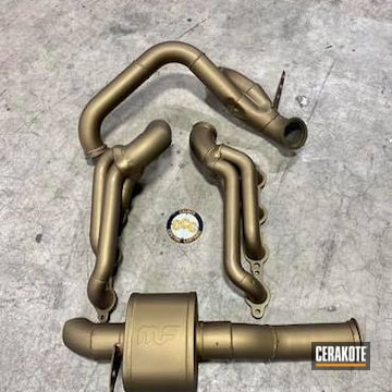 Exhaust System Cerakoted Using Burnt Bronze