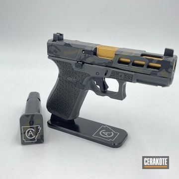 Custom Camo Glock 19 Cerakoted Using Multicam® Dark Grey, Sniper Green And Graphite Black