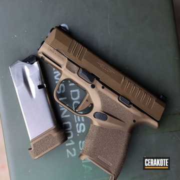 Springfield Armory Hellcat Cerakoted Using Burnt Bronze