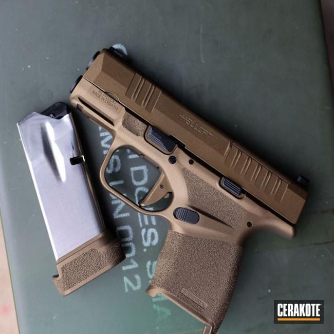 Cerakoted: S.H.O.T,9mm,Burnt Bronze,Burnt Bronze H-148,Springfield Armory,Hellcat