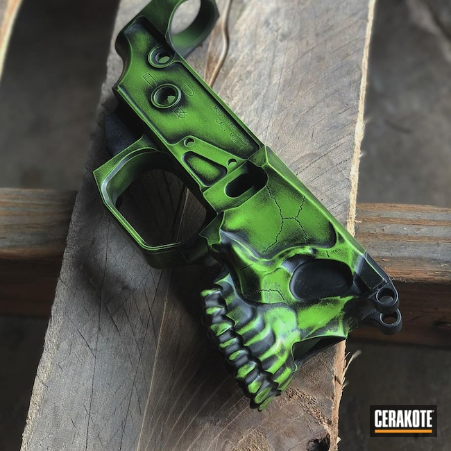 Cerakoted: S.H.O.T,Battleworn,Lower,Spike's Tactical,AR,Zombie Green H-168