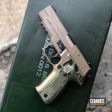 Sig Sauer P226 Cerakoted Using M17 Coyote Tan