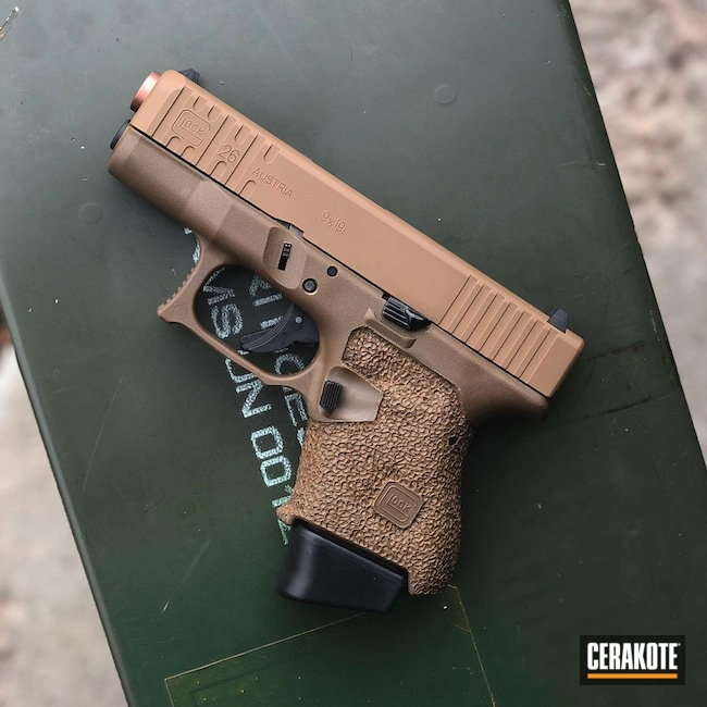Cerakoted: S.H.O.T,Stippling,TROY® COYOTE TAN H-268,Glock,Glock 26